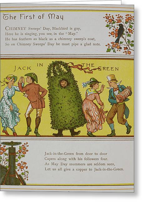 Chimney Sweep's Day Greeting Card by British Library