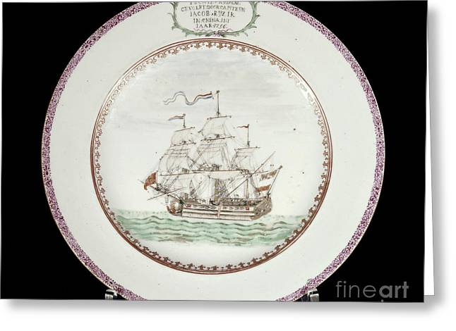 China - Dutch Ship 1756 Greeting Card by Granger
