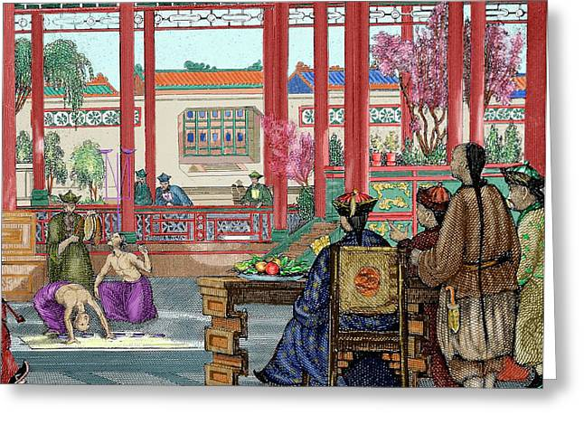 China Acrobats Performing Greeting Card by Prisma Archivo
