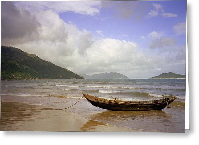 China Beach Vietnam Greeting Card by Terence Nunn
