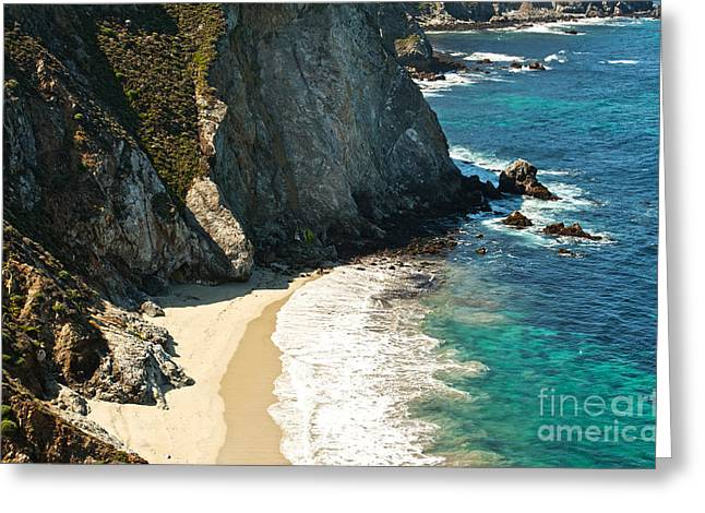 China Cove At Point Lobos State Beach Greeting Card by Artist and Photographer Laura Wrede