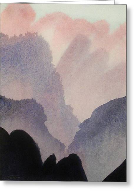Greeting Card featuring the painting China by Ed  Heaton