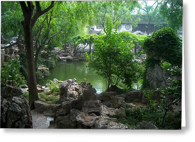 China Garden Greeting Card