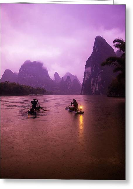 China, Guangxi Zhuang, Xing Ping Greeting Card by Terry Eggers