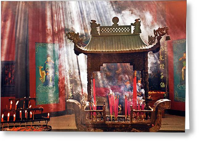 China, Hangzhou, Lingyin Buddhist Greeting Card