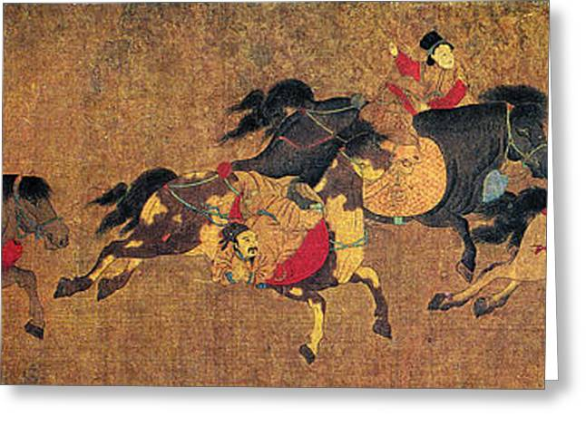 China Horse Riders Greeting Card by Granger