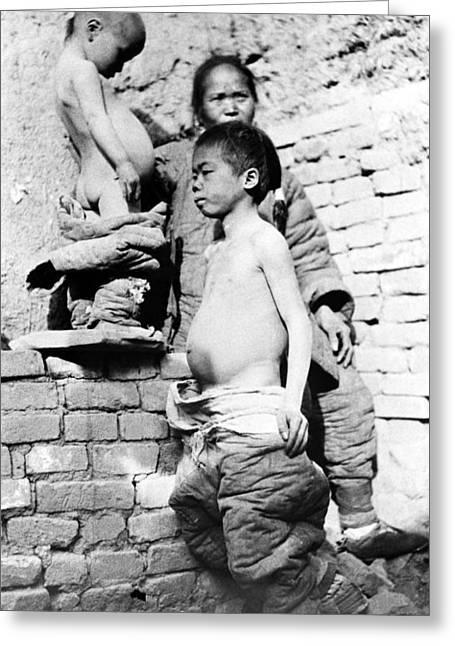 China Peasants, C1910 Greeting Card by Granger