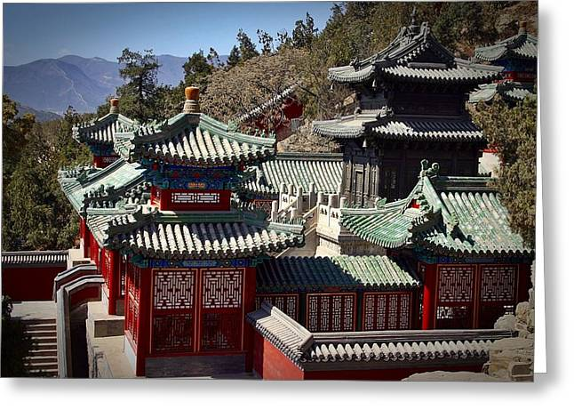 Greeting Card featuring the photograph China Summer Palace by Henry Kowalski