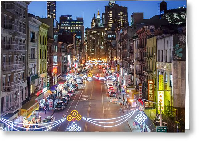 China Town Nyc  Greeting Card