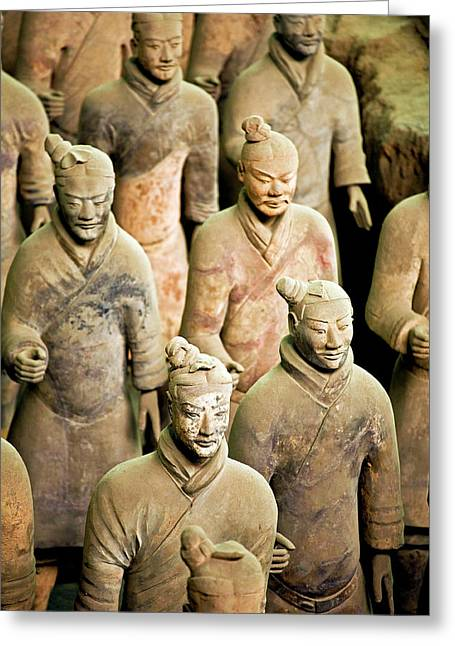 China, Xi'an, Qin Shi Huang Di Greeting Card