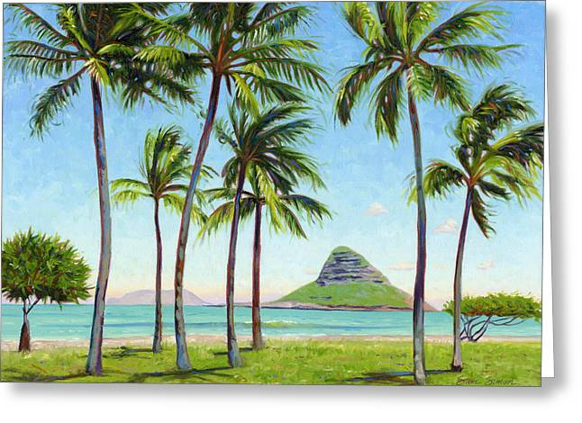 Chinamans Hat - Oahu Greeting Card by Steve Simon