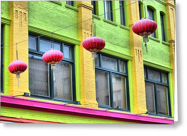 Chinatown Colors Greeting Card
