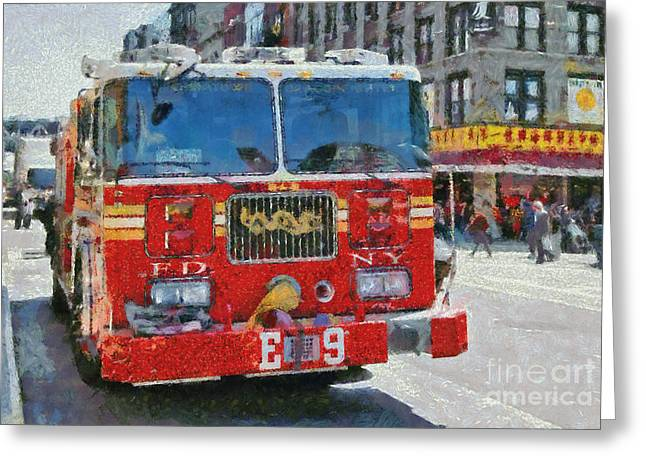Chinatown Dragonfighters Greeting Card