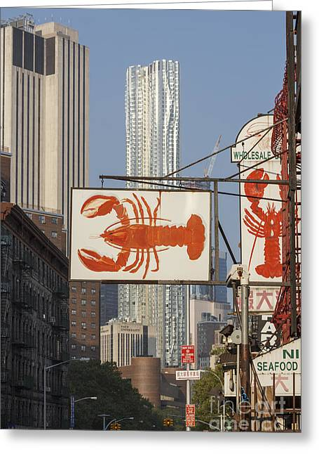 Chinatown Lobster Greeting Card