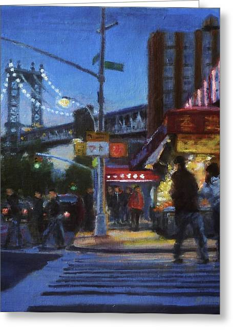 Chinatown Nocturne Greeting Card