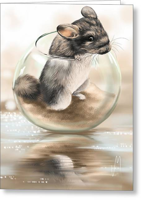 Chinchilla Greeting Card