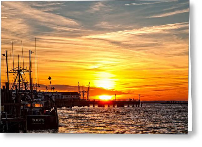 Chincoteague Bay Sunset Greeting Card