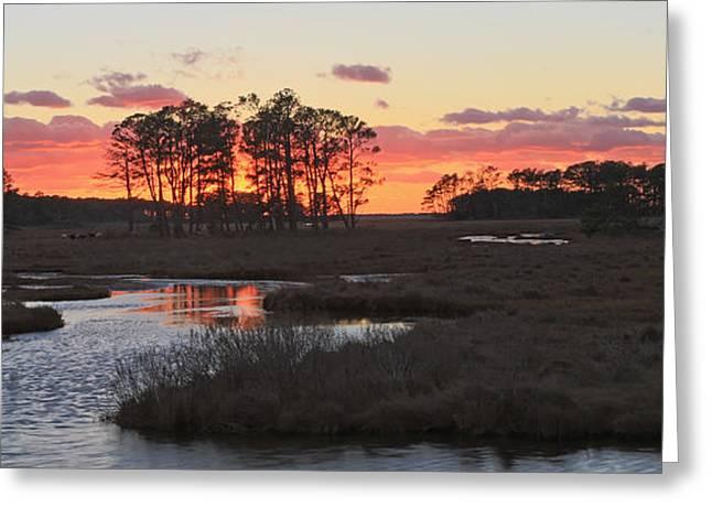 Chincoteague Island Sunset Greeting Card by Jack Nevitt
