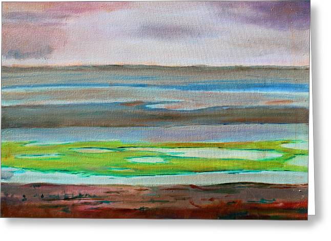 Greeting Card featuring the painting Chincoteague by Rosemarie Hakim