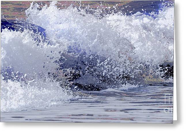 Chincoteague Waves Greeting Card by Olivia Hardwicke