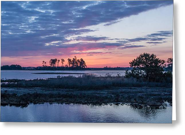 Chincoteague Wildlife Refuge Dawn Greeting Card