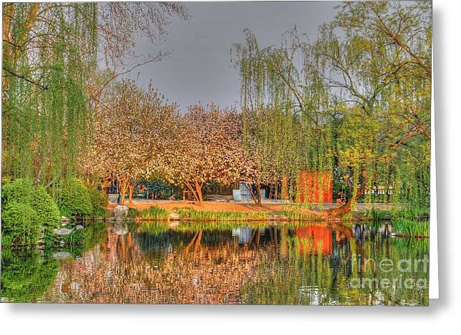 Chineese Garden Greeting Card