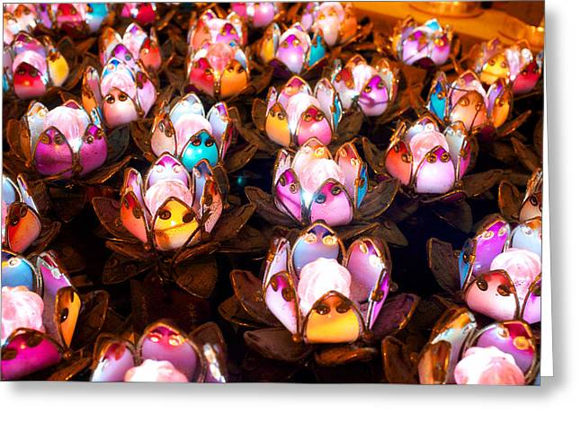 Chinese Candle Light Greeting Card by Thierry CHRIN