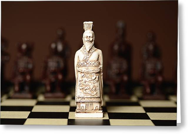 Chinese Chess King Greeting Card by Dick Wood