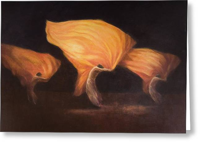 Chinese Dancers, 2010 Acrylic On Canvas Greeting Card by Lincoln Seligman