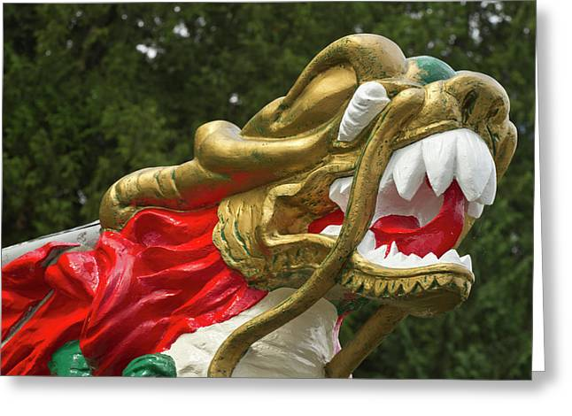 Chinese Dragonboat Figurehead, Stanley Greeting Card