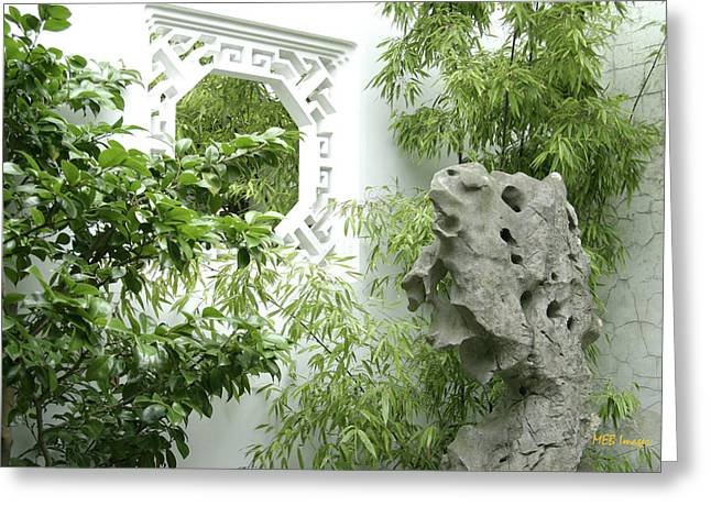 Greeting Card featuring the photograph Chinese Garden by Margaret Buchanan