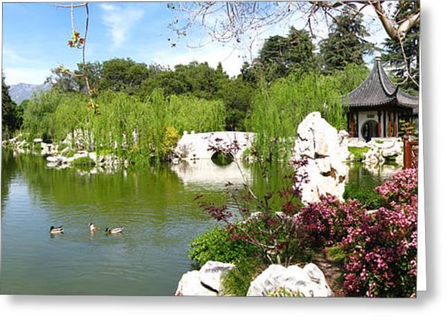 Chinese Gardens Greeting Card by Bedros Awak