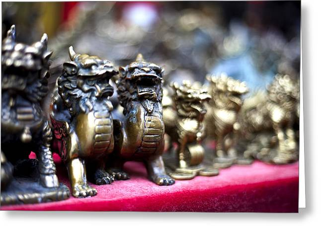 Chinese Guardian Lions Greeting Card by SFPhotoStore