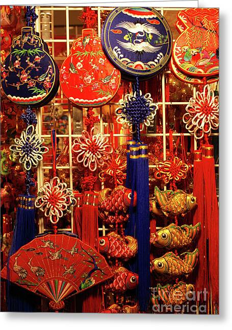 Chinese Handicrafts Vancouver Chinatown Greeting Card by John  Mitchell
