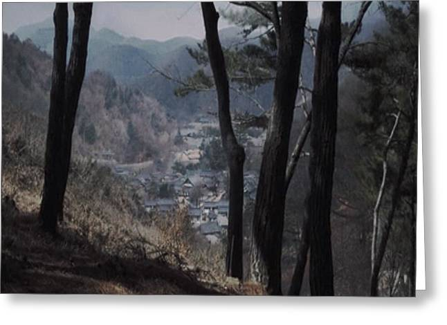 Chinese Landscape Collection By Navinjoshi Valley Mountain Trees Asia Nature Peak  Greeting Card