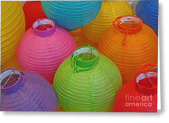 Chinese Lanterns Greeting Card by Ranjini Kandasamy