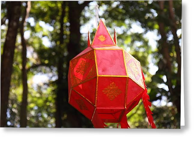 Chinese Lanterns - Wat Phrathat Doi Suthep - Chiang Mai Thailand - 01137 Greeting Card by DC Photographer
