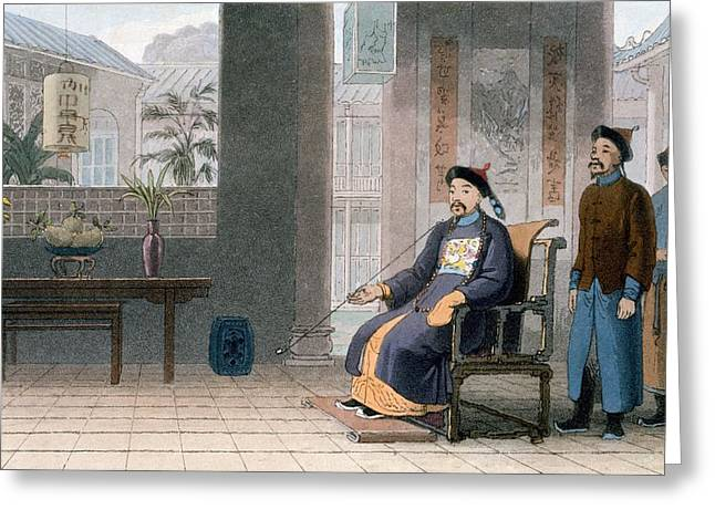 Chinese Of Rank, 1810 Greeting Card by Thomas & William Daniell