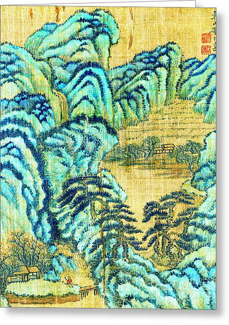 Chinese Teahouse 1730 Greeting Card by Padre Art