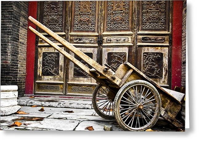 Chinese Wagon In Color Xi'an China Greeting Card