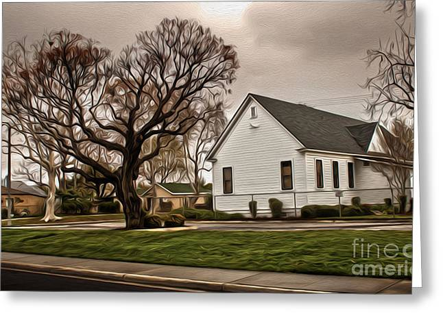 Chino Old School House - 04 Greeting Card by Gregory Dyer