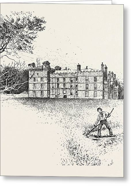 Chipchase Castle,  Is A 17th-century Jacobean Mansion Greeting Card