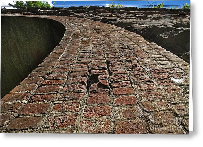 Chipmunks View Of A Stone Bridge Greeting Card