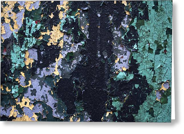 Chipped Paint Greeting Card by Gretchen Lally