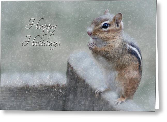 Chippy Christmas Card Greeting Card by Lori Deiter