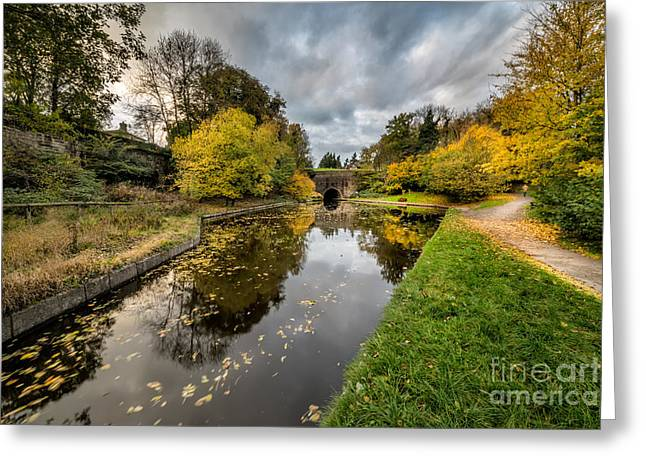Chirk Canal Greeting Card by Adrian Evans