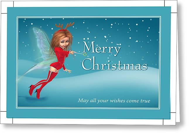 Chirstmas Fairy Greeting Card by John Junek