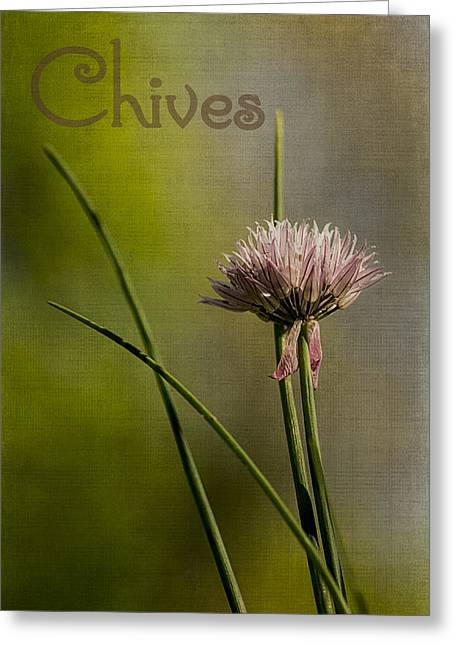 Chives Greeting Card by Wayne Meyer