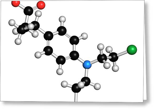 Chlorambucil Leukemia Drug Molecule Greeting Card