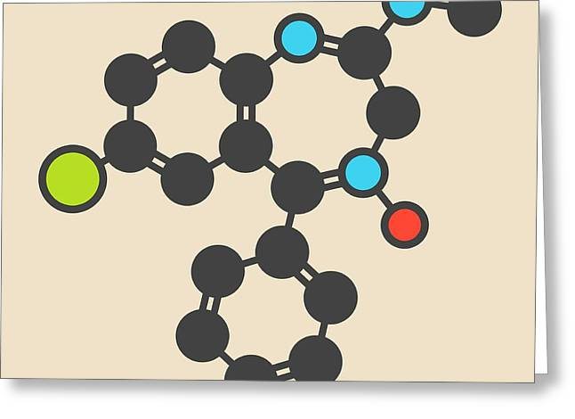 Chlordiazepoxide Sedative Molecule Greeting Card by Molekuul